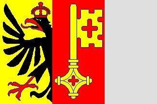 Fahne Genf 30 x 30 cm