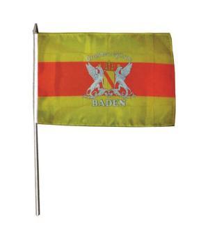 Stockflagge Großherzogtum Baden mit Schrift 30 x 45 cm