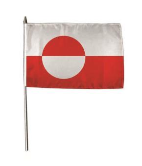 Stockflagge Grönland 30 x 45 cm