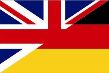 Flagge Grossbritannien - Deutschland