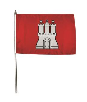 Stockflagge Hamburg 30 x 45 cm