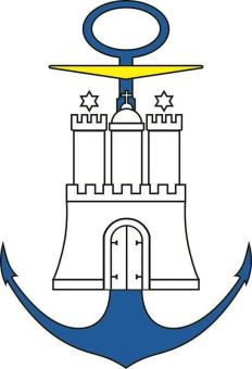 Aufkleber Hamburg Hafen Wappen