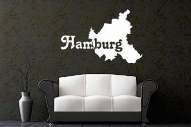 Wandtattoo Hamburg Karte
