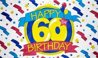 Fahne Happy Birthday 60 90 x 150 cm