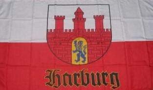 Fahne Hamburg Harburg alt 90 x 150 cm