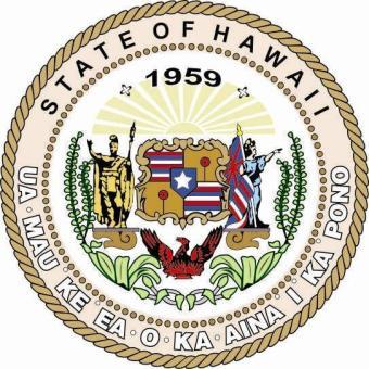 Aufkleber Hawaii Siegel Seal