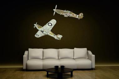 Wandtattoo Hawker Hurricanes Color