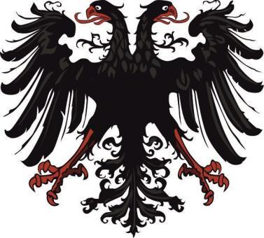 Aufkleber Adler des Heiligen Römischen Reiches Deutscher Nation 10 x 9 cm