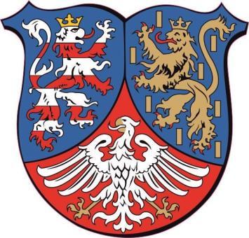 Aufkleber Hessen - Nassau Wappen 9 x 9 cm