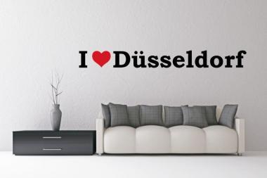 Wandtattoo I Love Düsseldorf