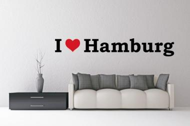 Wandtattoo I Love Hamburg