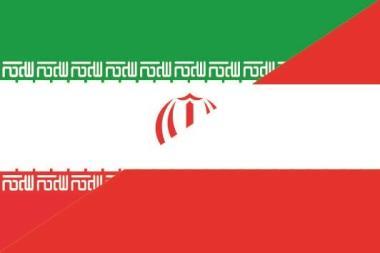 Aufkleber Iran-Österreich