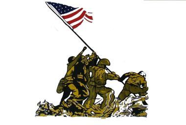 Fahne Iwo Jima 90 x 150 cm