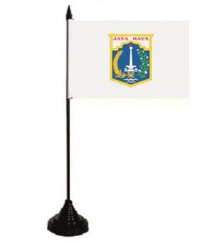 Tischflagge Jakarta 10 x 15 cm