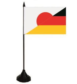 Tischflagge Japan - Deutschland 10 x 15 cm