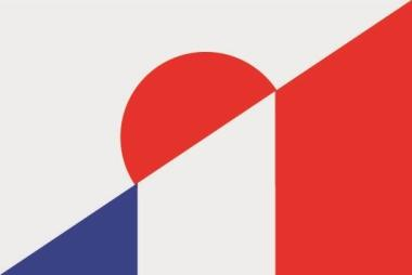Flagge Japan - Frankreich
