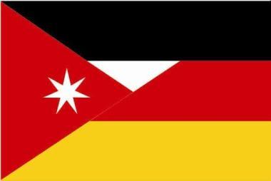 Flagge Jordanien - Deutschland
