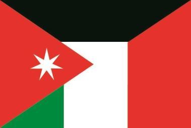 Flagge Jordanien - Italien