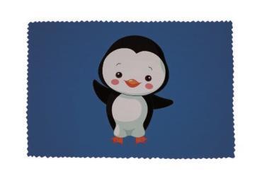 Glasreinigungstuch Junger Pinguin blau