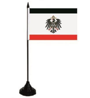 Tischflagge Kaiserreich mit Adler 10 x 15 cm