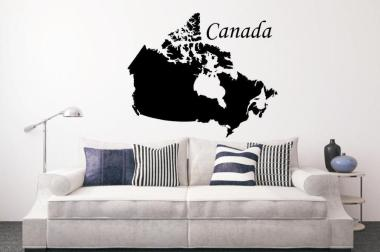 Wandtattoo Kanada Karte