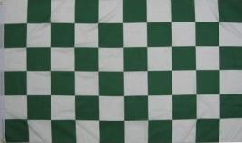 Fahne Karo Grün-Weiß 30 x 45 cm