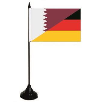 Tischflagge Katar-Deutschland 10 x 15 cm