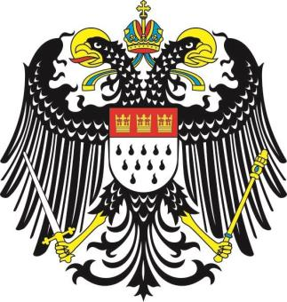 Aufkleber Köln großes Wappen Adler