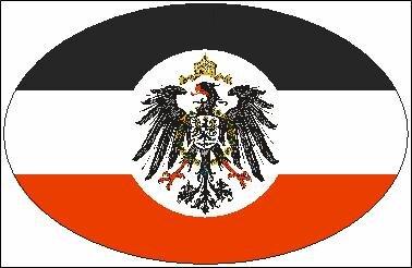 Aufkleber oval Deutsches Reich Auswärtiges Amt 10 x 6,5 cm