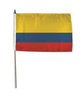 Stockflagge Kolumbien 30 x 45 cm