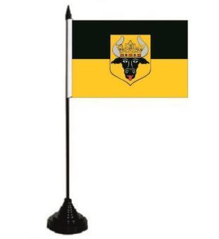 Tischflagge Krakow am See 10 x 15 cm