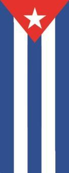 Flagge Kuba im Hochformat
