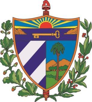Aufkleber Kuba Wappen