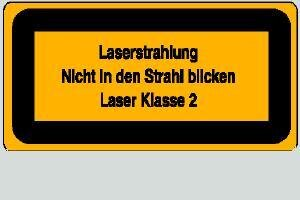 Laser Klasse 2 10,5 x 5,2 cm