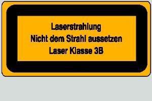 Laser Klasse 3B 14,8 x 7,4 cm
