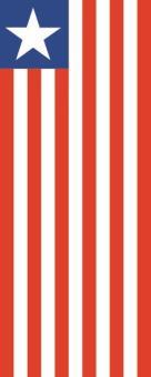 Flagge Liberia im Hochformat