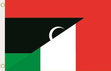 Fahne Libyen-Italien 90 x 150 cm