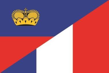 Aufkleber Liechtenstein-Frankreich