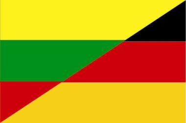 Aufkleber Litauen - Deutschland