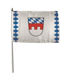 Stockflagge Landkreis Landshut 30 x 45 cm