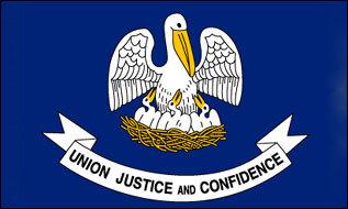 Flagge Louisiana
