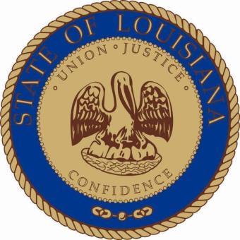 Aufkleber Louisiana Siegel Seal