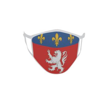 Gesichtsmaske Behelfsmaske Mundschutz Lyonnais Provinz