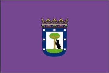 Flagge Madrid Stadt