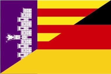 Flagge Mallorca - Deutschland