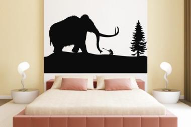 Wandtattoo Mammutjagd