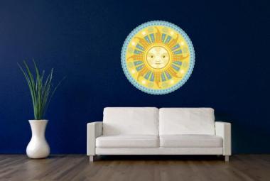 Wandtattoo Mandala Sonne