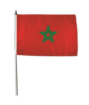 Stockflagge Marokko 30 x 45 cm