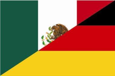 Aufkleber Mexiko - Deutschland