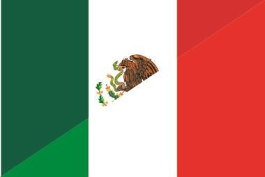 Flagge Mexiko - Italien